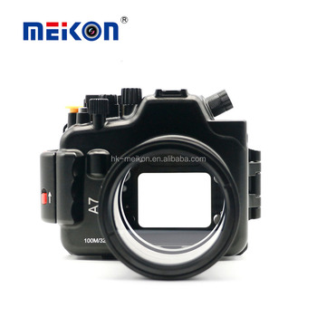 Meikon Aluminum Alloy camera housing 100M/325ft underwater waterproof camera Aluminum case for Sony A7