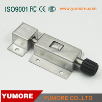 China YUMORE hardware hot sale stainless steel spring tower door bolt