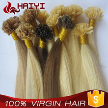 6A, 7A, 8A 100% human hair high quality popular cheap i tip 100% virgin indian remy hair extensions