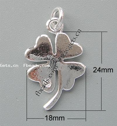 Zinc Alloy Four Leaf Clover Good Luck Four Leaf Clover Necklaces 308681