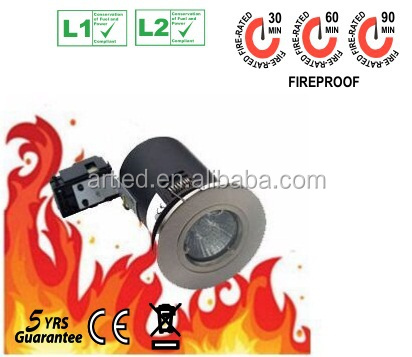Changeable bezel twist lock die-casting Fire guard downlight SATIN NICAL