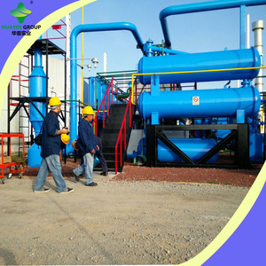 High quality waste rubber refining to oil machine