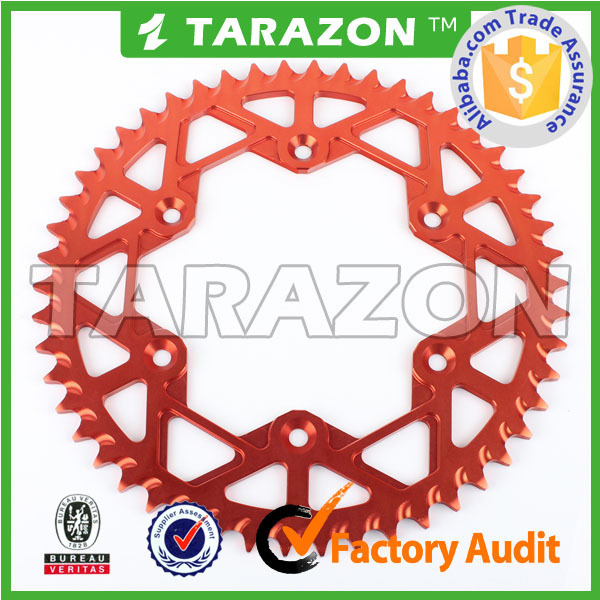 TARAZON Brand CNC Billet Aluminum Rear Sprocket for Motorcross Offroad Bike Dirt Bike