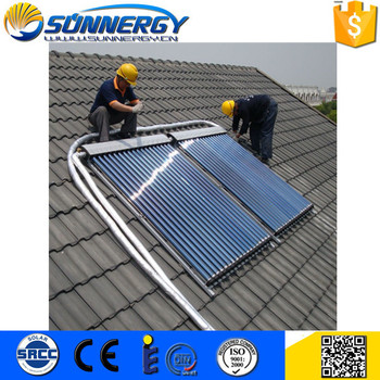 Custom logo solar water heating vacuum collector china with good quality