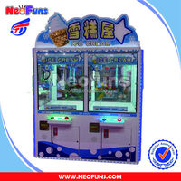 hottest new design ice cream claw crane game machine
