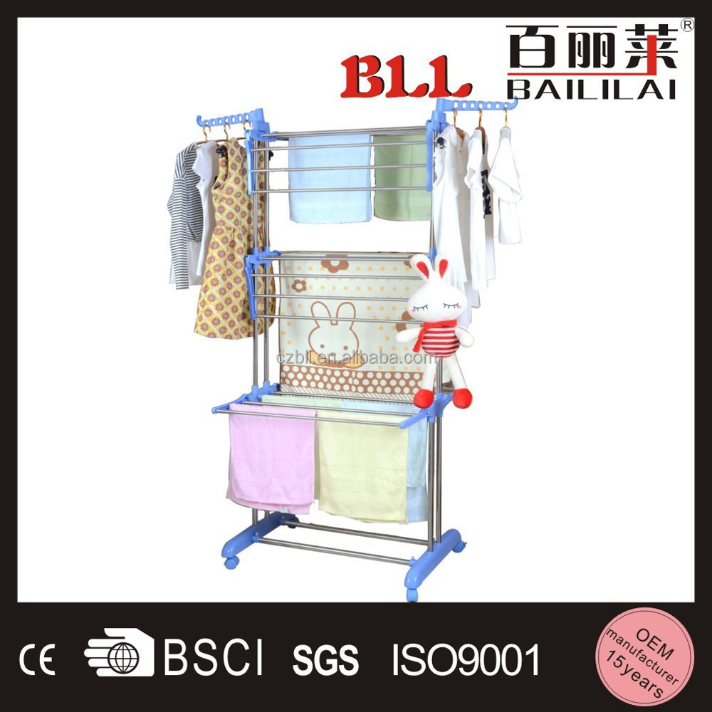 Foldable mesh three layers drying racks