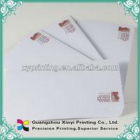 Letterhead and envelopes printing