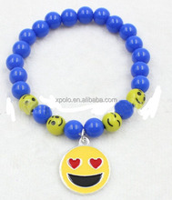 Fashion blue bead emoji Bracelet Jewelry