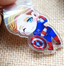 Lovely transparent acrylic key chain,custom acrylic keychain,kawaii keyring