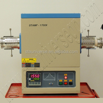 1200 to 1700 C High Temperature Laboratory Vacuum Tube Furnace for melting sintering and heat treatment