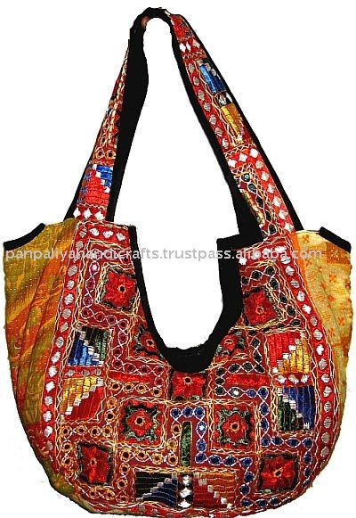 Vintage India Inspired Bag-handmade Mirror work tote bags