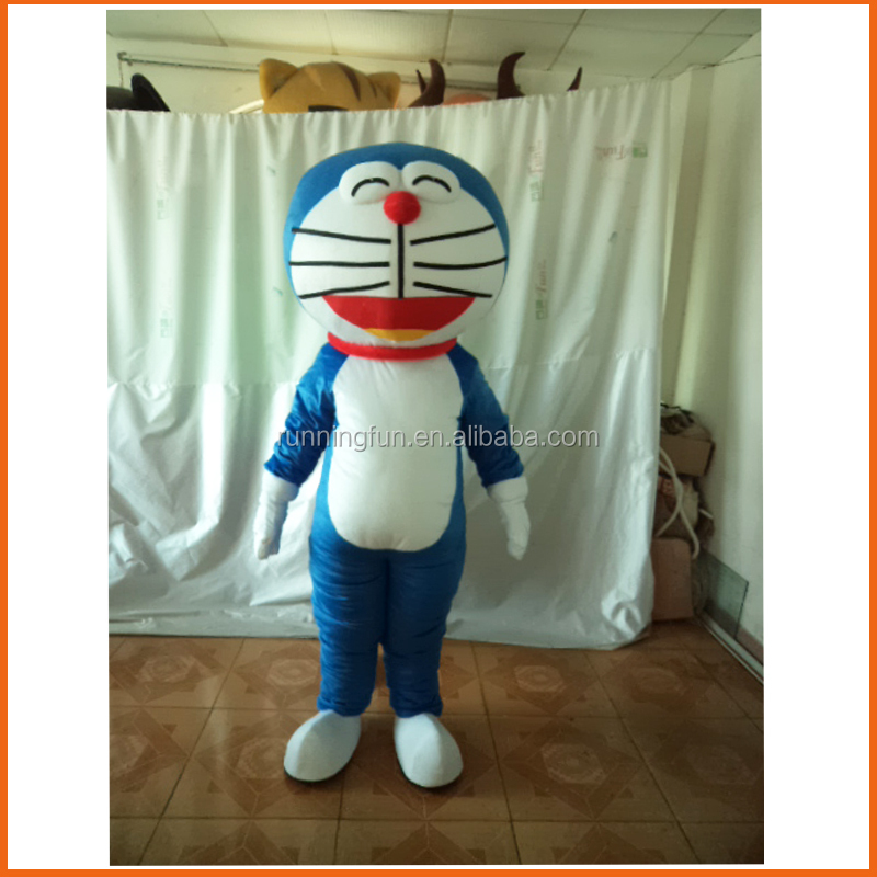 Hot!!! professional cartoon character doraemon mascot costume for adults