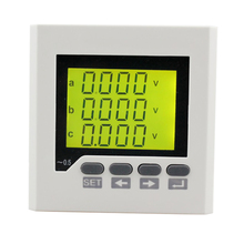 3HD7Y panel size 80*80 three phase lcd digital display panel rs485 communication low price energy <strong>meter</strong>, with harmonic measure