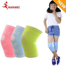 2017 New Colorful Jacquard Children Breathable Dancing Skiing Knee Support Elastic Protective Pad