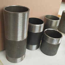 Standard Water Pipe Fitting Carbon Steel Male Threaded Nipples