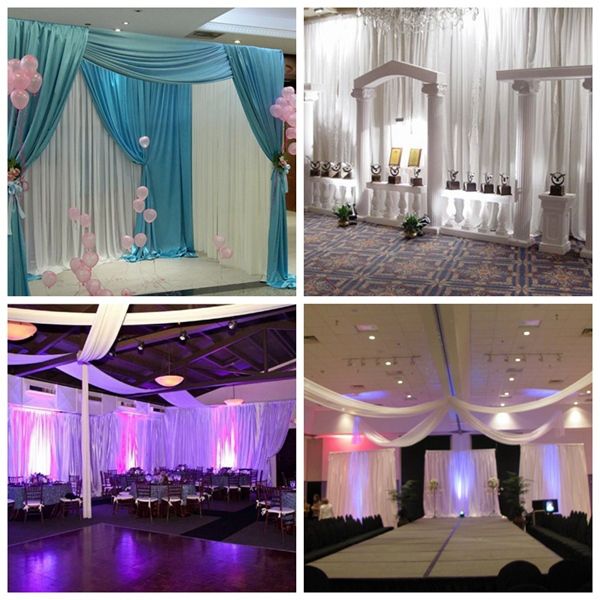 WHOLESALE event wedding aluminum backdrop stand pipe drape LOWEST PRICE pvc pipe and drape