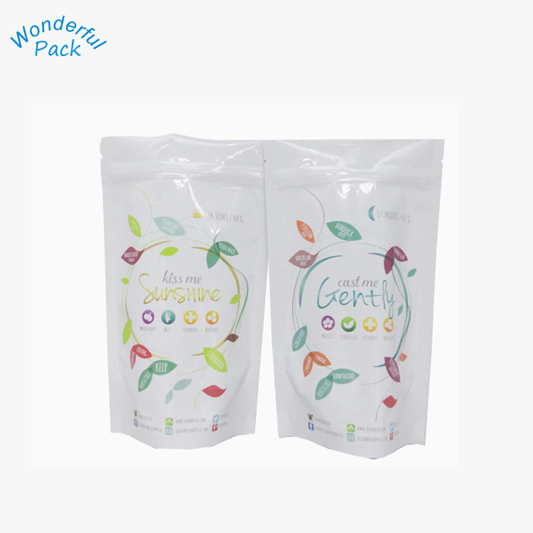 promotional bags with logo aluminum foil bag stand up pouch for Chia seeds