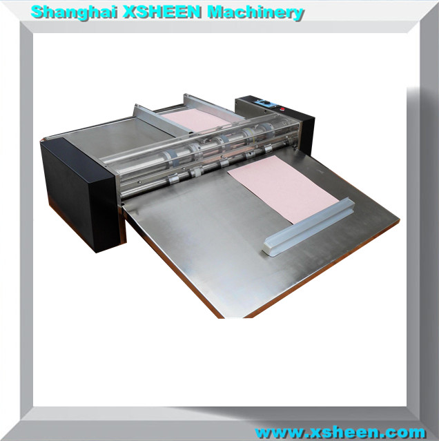 08 Paper creasing and perforating machine with different creasing and knife moulds