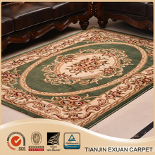 modern machine made hand carved sculptural Aubusson PP rug