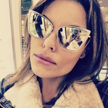 F97143 2018 New oversized Cat Eye Sunglasses UV400 Women Fashionable sunglasses cheap customer logo F97143