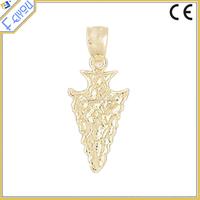 Wholesale 14k Yellow Gold Arrowhead Pendant