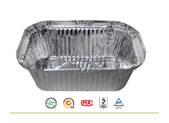 Hot selling low price 100% food grade aluminum foil container