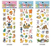 free shipping wholesale 1000pcs 3D stickers Pokemon sticker promotion gift for kids puffy stickers