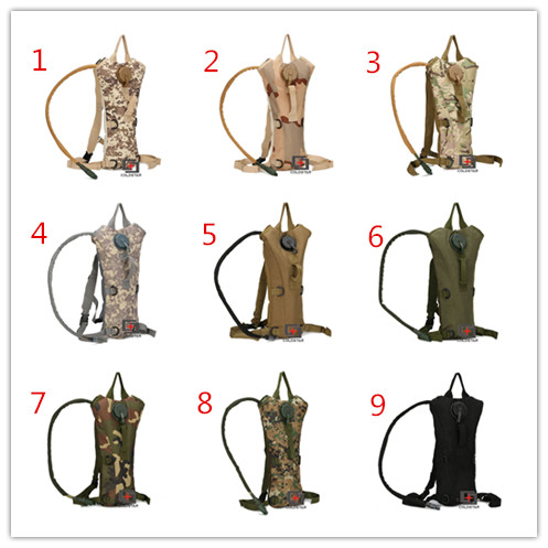 Unisex 3L TPU Hydration Bladder Tactical Water Backpack Military Bags Outdoor Icycle Camping Hiking Climbing Traveling Bags