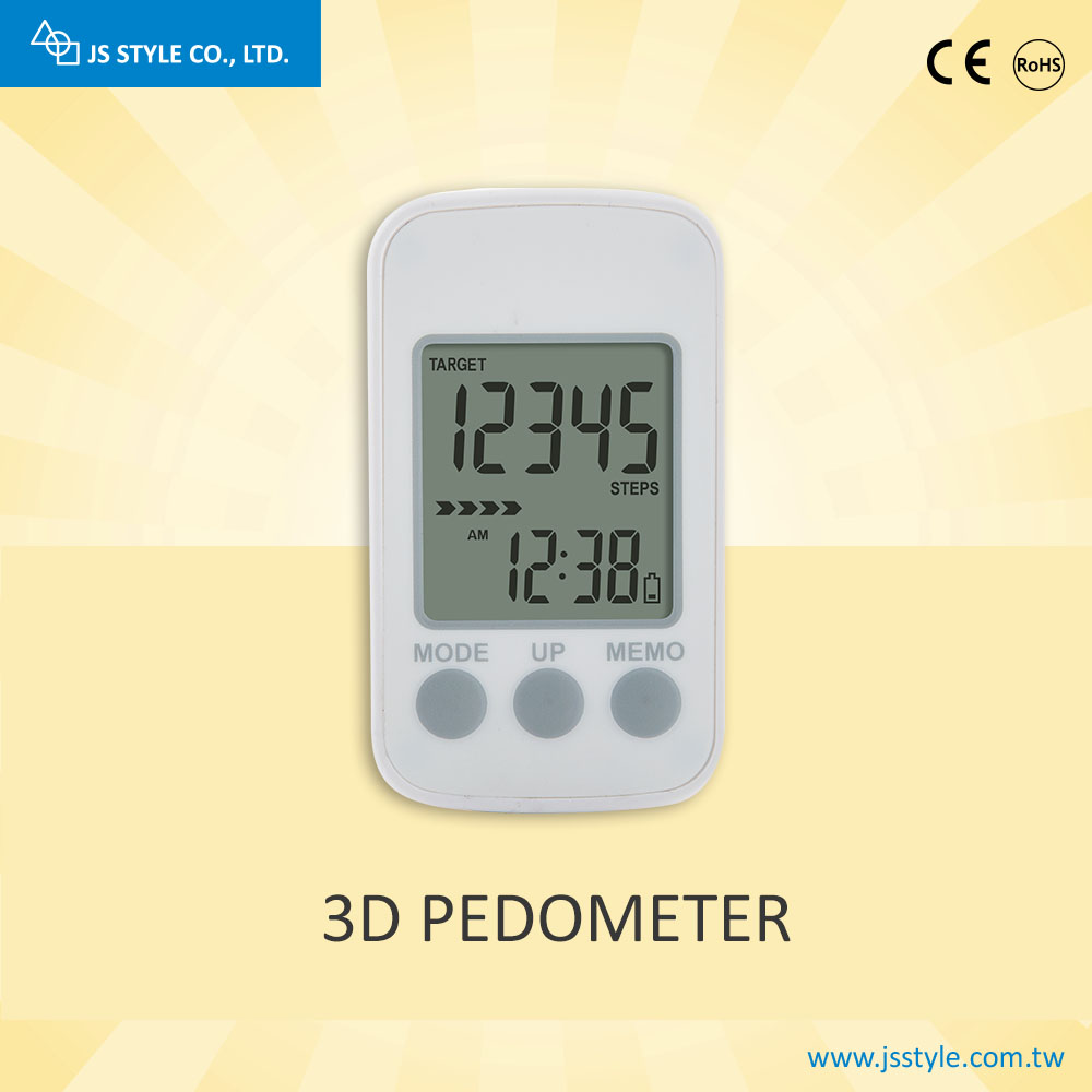 High Quality 7 Day Memory Walking 3D Electronic Pedometer With Clip And Strap