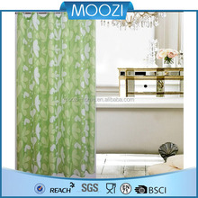 Green flower fabric shower curtain,Bathroom jacquard curtain fabric