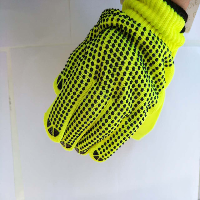100% cotton different color work glove with PVC dots