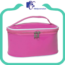 Shiny pvc leather women cosmetic bag travel