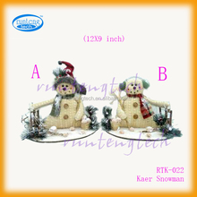 FASHION SNOWMAN ORNAMENTS WITH WOODEN BASE RTK022