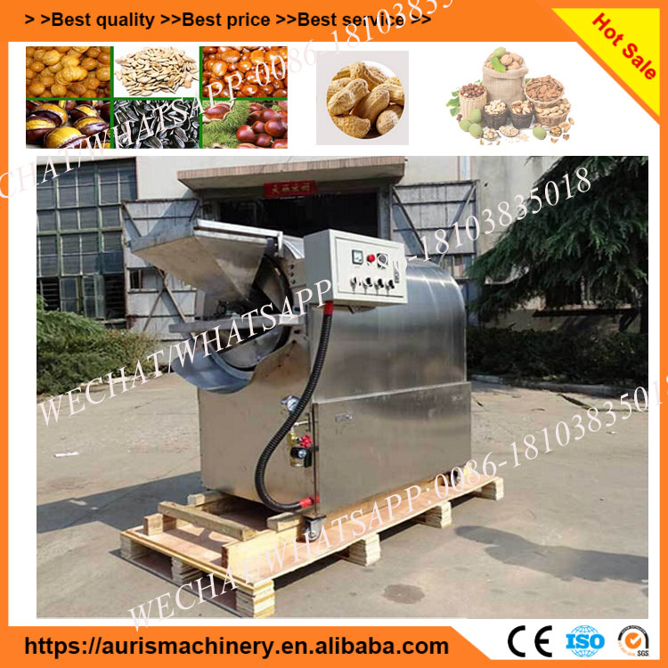 Gas peanut roaster machine/sample rotating roaster