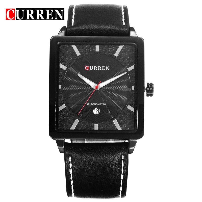 original brand women fashion square wristwatch genuine leather strap business date analog <strong>watch</strong> curren 8117 men luxury <strong>watch</strong> hot