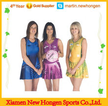Custom sublimation netball skirts bodysuit women netball dress