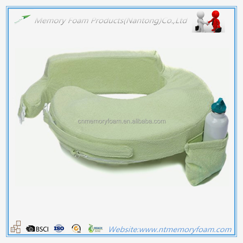Multifunction pregnancy feeding pillow with pocket and buckle design