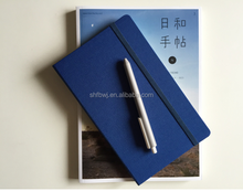 A5 green pu leather notebook business use for office