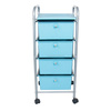 Trendy Rolling Trolley Cart With 3