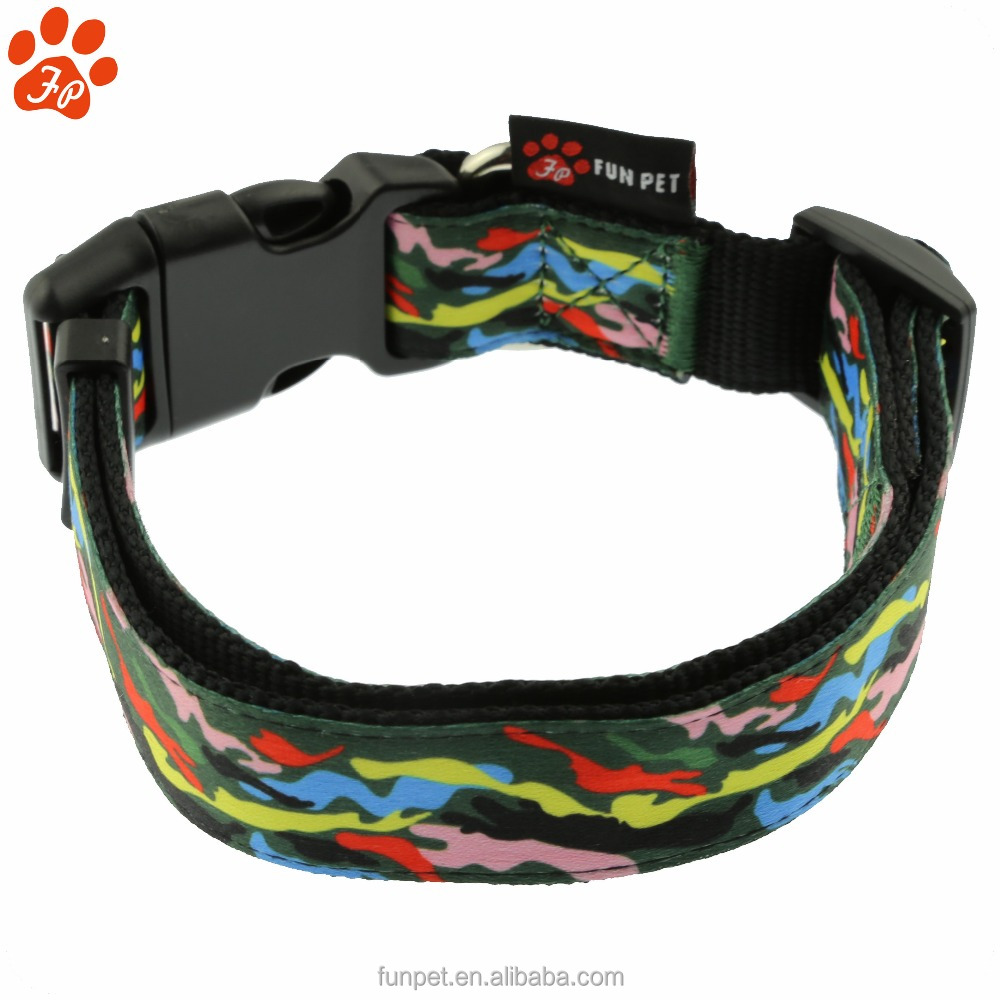 Comfortable New Design Rainbow Camouflage Dog Collar &Leash &harness &seat belt