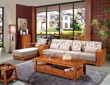 Pictures of modern home living room furniture wooden sofa set designs 8202
