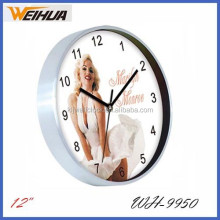 12 inch customized aluminum wall clock
