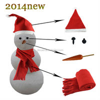 Christmas snowman suit hat scarf and nose 2014 new