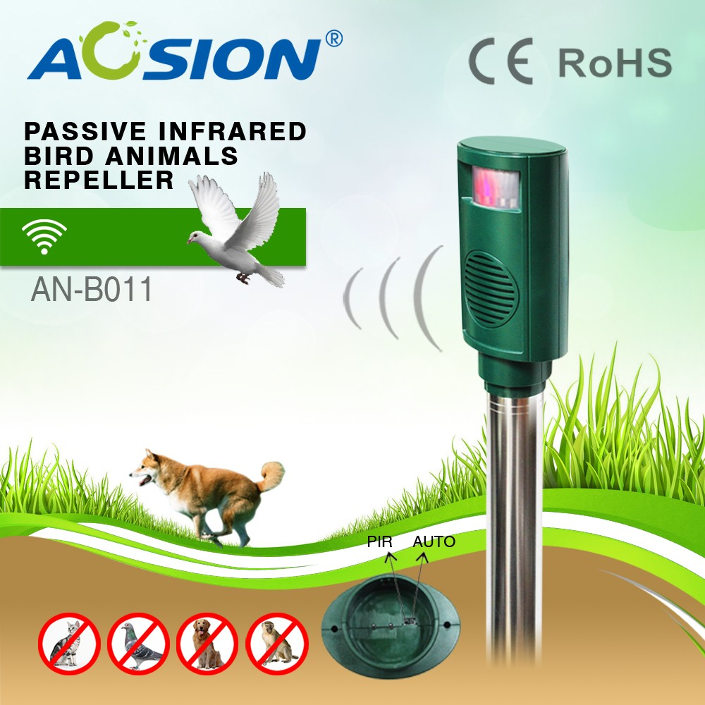 Aosion ABS waterproof ultrasonic sound pigeon bird repeller keep birds away