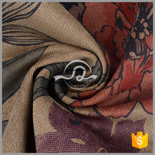 5014 High quality 100% polyester flower printing corduroy velvet sofa fabric