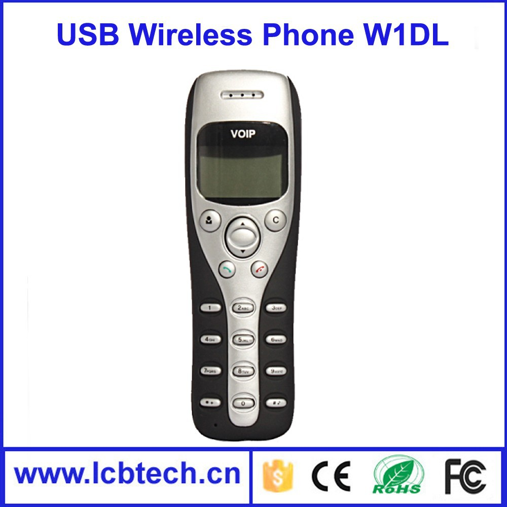 Best sales!!Cheap DECT usb voip skype phone with Large graphic LCD