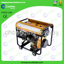 CE&ISO Approved three phase recoil/electric start cost effective 170f 5kv diesel generator