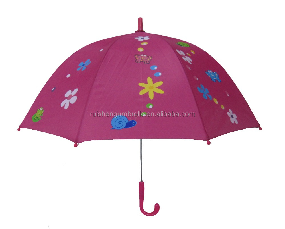 Animal and flower print kids umbrella manual dome umbrella for promotion