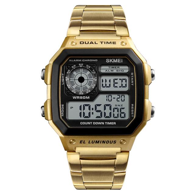 SKMEI 1335 luxury rose gold digital watch mens