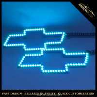 Led light waterproof OEM Factory design Chevrolet blue bowtie emblem with RGB color
